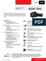 EOS 700D Specifications Brochure