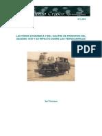 La crísis económica y del salitre de principios del decenio 1930 y su impacto sobre los ferrocarriles