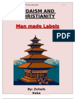 Judaism and Christianity Man Made Labels