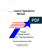 Maintanannace Operational Manual