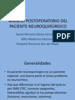 MANEJO POSTOPERATORIO DEL PACIENTE NEUROQUIRÚRGICO