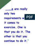 3rd e Newsletter Morning Exercises