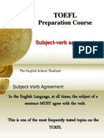 Subject and Verb Agreements