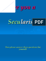 Are You a Secularist?
