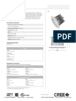 Cree Downlight LR6 Specification Sheet