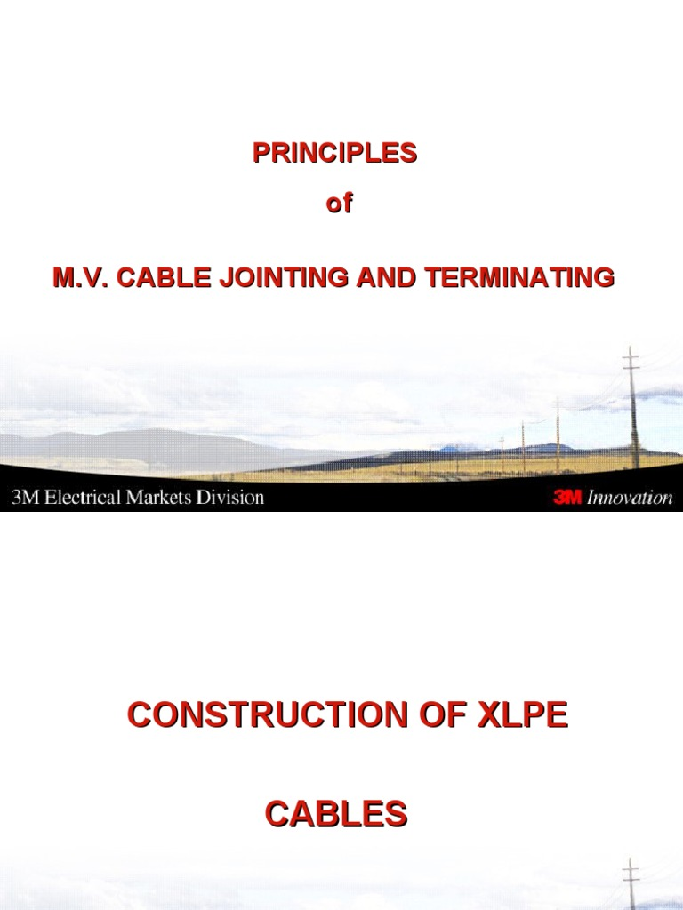 Cable Jointing Procedure : Mv cable jointing termination insulator electricity