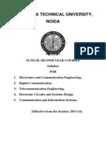 m.tech Syllabus 2nd Year mtu
