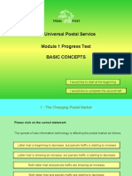 The Universal Postal Service Module 1 Progress Test BASIC CONCEPTS
