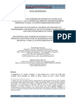 Diagnostico Do Turismo Ecologico e o Papel Das Parcerias Para o Desenvolvimento Socioeconomico Regional e Para a Sustentabilidade Em Goi