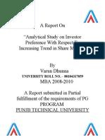 Investor Perception Towards Share Market