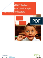 The SO WHAT Factor Impact Evaluation Strategies for Teacher Educators
