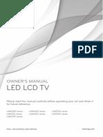 Guia de Usuario TV LG Smartv Series LM6200, LM6400, LM6700 Y LM7600
