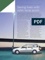 Life saving composite lamp posts