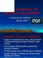 Japan- Geography and the Edo Period