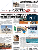 Periódico Norte edición impresa día 25 de enero 2014