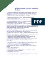 Bank PO General Awareness Model Paper