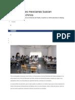 Universidades Mexicanas Buscan Estudiantes Chinos