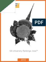 QS Asis University Ranking 2012