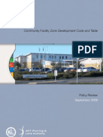 Community Facility Zone Development Code (CFZDC) and its associated Development Table Policy review (September 2009)
