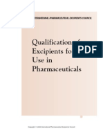 Excipient Qualification Guide