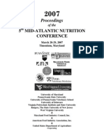 5th Mid-Atlantic Nutrition Conference. 2007