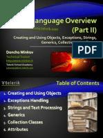 4 Csharp Language Overview Part II 120201085223 Phpapp02