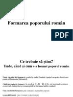 Formarea Poporului Roman
