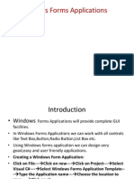 Windows Forms Aw f application pplications PPt