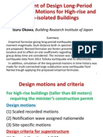 Assessment of Design long period earthquake motions for high rise buildings