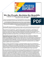 Statement by We the People, Reclaim the Republic