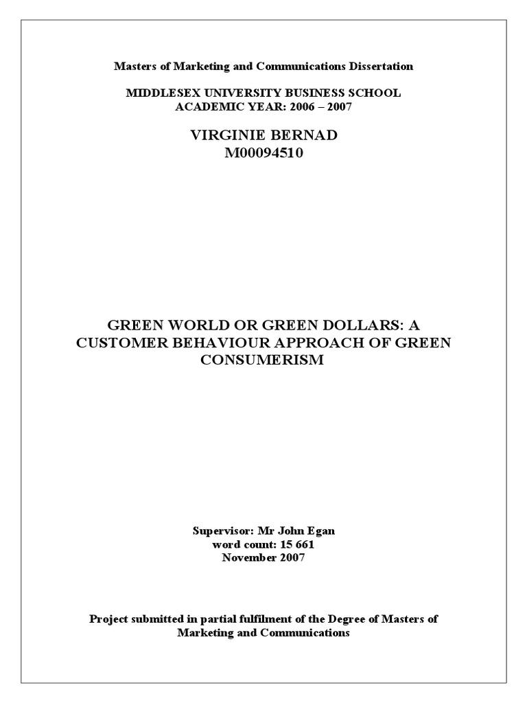 Consumer Behaviour Dissertation Topics & Proposal Example