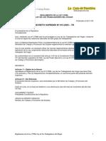 Reglamento Ley27986-TH Esp