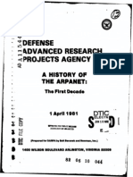 A History of the ARPANET The First Decade (Report). Arlington, VA Bolt, Beranek & Newman Inc.. 1 April 1981.
