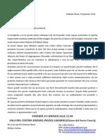"""Lettera di convocazione al """"popolo delle primarie"""" di Solbiate Olona"""