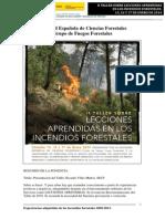 Resumen Ponencias II Taller sobre lecciones aprendidas en los incendios forestales