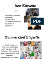 Business Etiquets