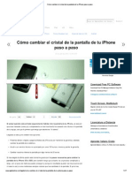 Cómo cambiar el cristal de la pantalla de tu iPhone