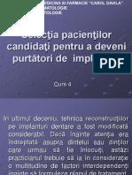 Curs 04 - Selectia Pacientilor