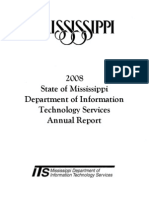 State of Mississippi Department of Information Technological Services 2008