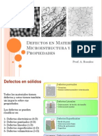 Tema 2 Defectos en Materiales