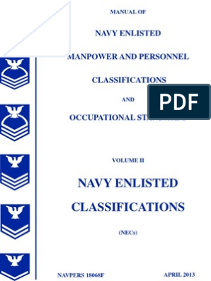 Manual of Navy Enlisted Manpower and Personnel
