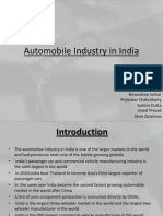 Automobile Industry in India Final