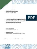 A economia política dos governos FHC, Lula e Dilma