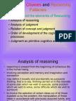 552Judgment, Choices and Reasoning Fallacies