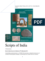 Scripts of India (S. Kalyanaraman, 2014)