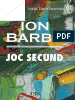 Barbu Ion - Joc Secund (Tabel Crono)