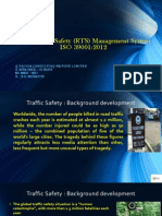 Road Traffic Safety (RTS) Management System ISO 39001:2012