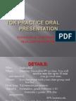 TOK Oral presentation DP