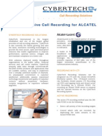 PDF CYBERTECH CyberTech ALCATEL CTI for Active Passive Recording