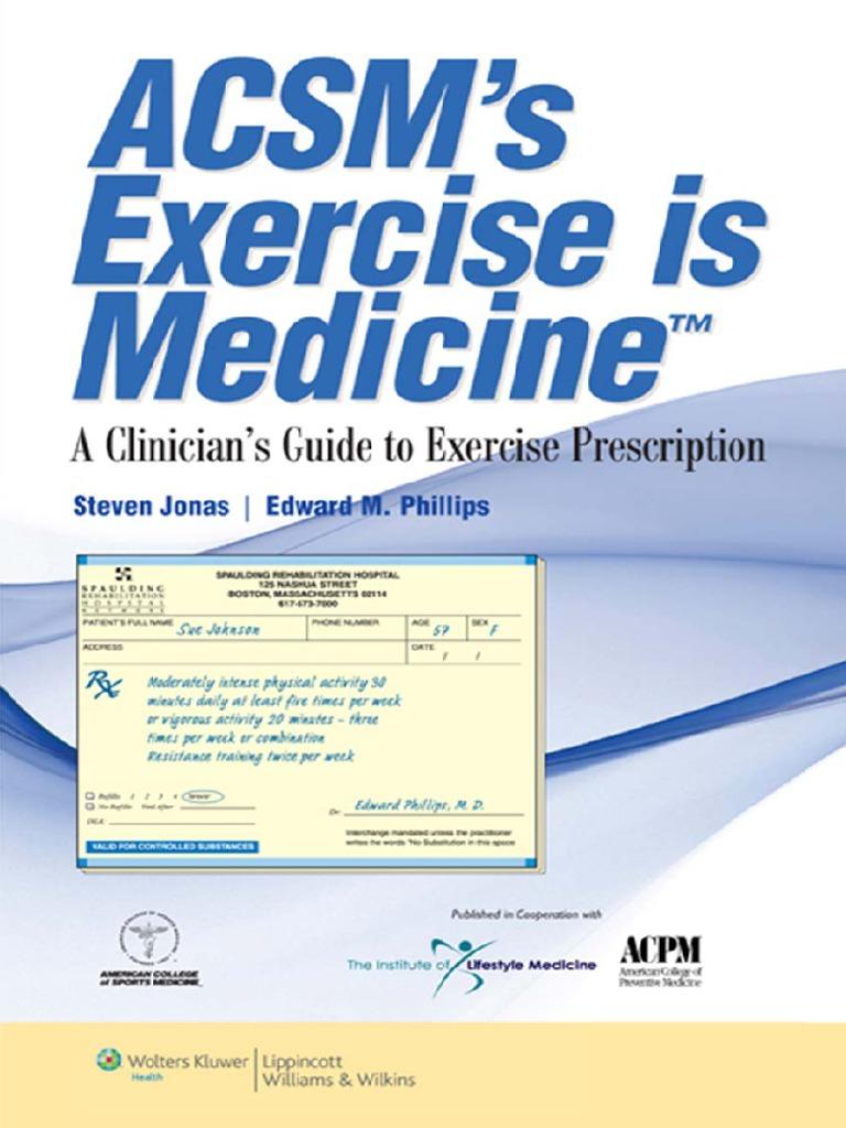 Array - acsm u0027s exercise is medicine  a clinician u0027s guide to exercise      rh   scribd com